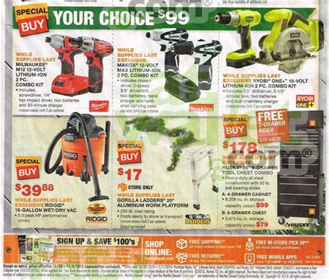 black friday 2013 home depot ad scans and deals now live