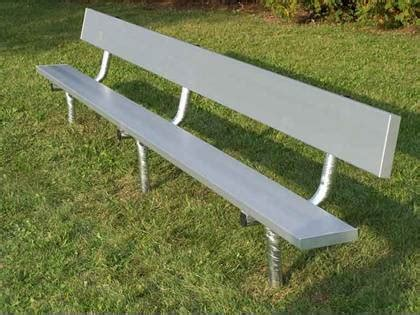 player benches permanent player bench w back 7 5