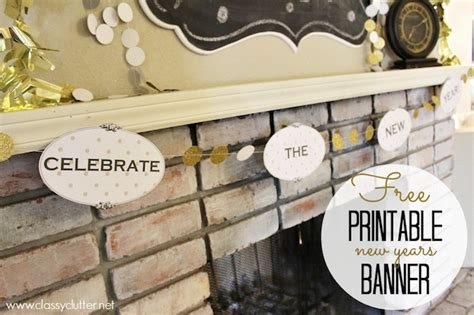 printable new years banner new years decor ideas and a free printable banner classy