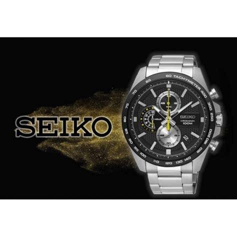 Seiko Chronograph Spc083p1 Silver Black seiko s chronograph stainless steel band