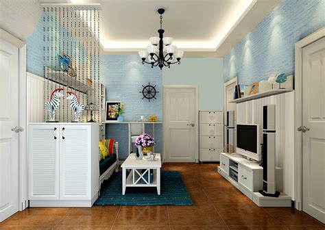 living room for small house small house living room blue brick wall korean style