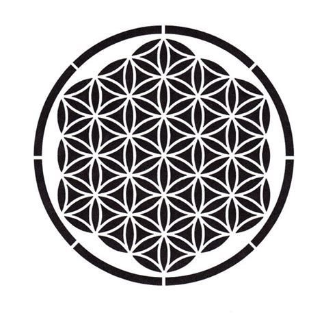mandala print vinyl 6 quot x 6 quot patterned vinyl square 6x6 flower of life stencil sacred geometry ancient symbols