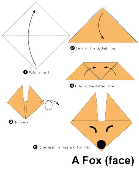 How To Make A Paper Easy Step By Step - fox origami for 2016