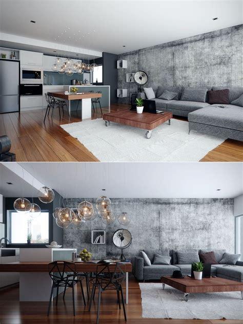 exposed concrete walls ideas inspiration studio apartment interiors inspiration exposed concrete