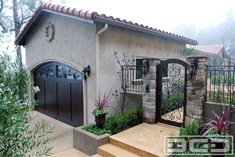 mediterranean revival  custom architectural garage