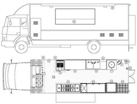 food truck kitchen design blueprints of restaurant kitchen designs restaurant