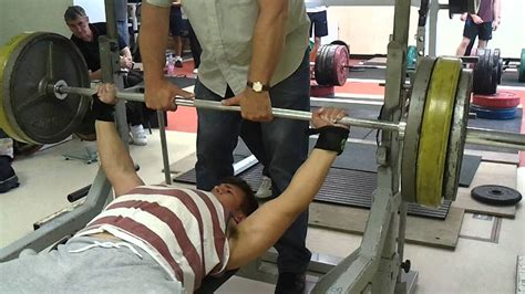 old bench press 16 year old strict bench press 120kg 264 lbs josh king