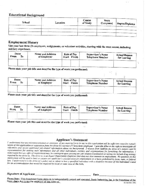 printable job applications walgreens sonic application for employment armsairsoft com