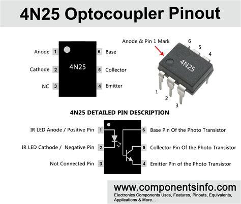 optocoupler pinout datasheet equivalent features