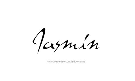 jasmine tattoo font jasmin name tattoo designs