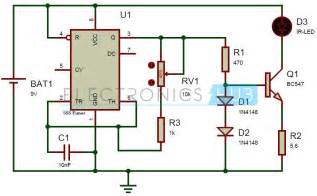 tv remote jammer circuit using 555 timer ic circuit diagram remote and hobby electronics