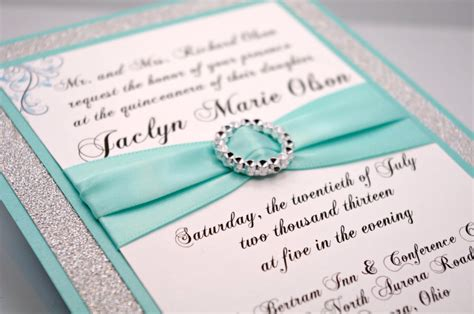 Handmade Quinceanera Invitations - diy aqua wedding quincea 241 era sweet sixteen by invitebling