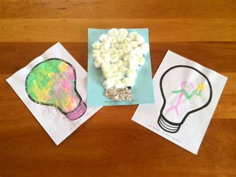 light bulb crafts for teaching to conserve energy left brain craft brain