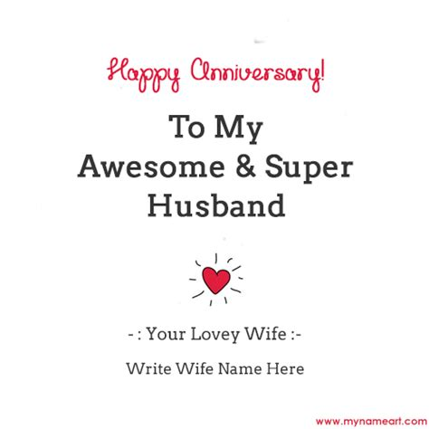 Wedding Anniversary Greeting To My Husband by Write Name On Wedding Anniversary Doll Cake