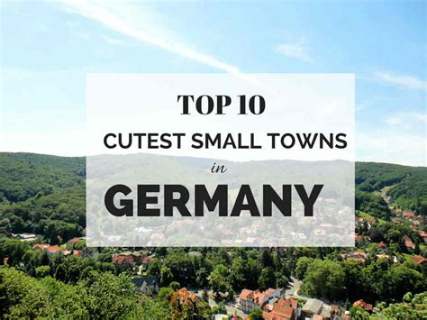 best towns in 10 cutest small towns in germany the russian abroad