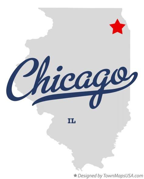 chicago illinois map map of chicago il illinois