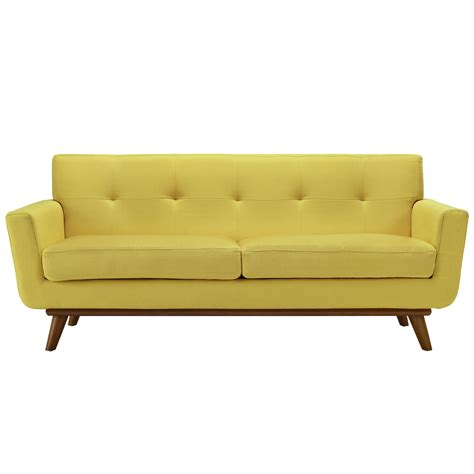 loveseat contemporary engage contemporary upholstered loveseat with wooden legs