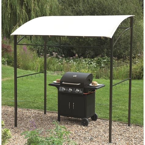 bbq awning barbecue gazebo 216x130x220cm the garden factory