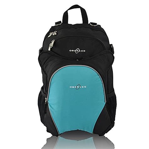 Cooler Diaperbag Two Disanto Backpack obersee bag backpack with detachable cooler in black turquoise buybuy baby