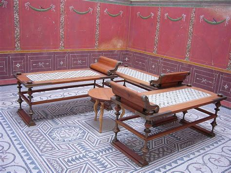 roman couches triclinium wikipedia