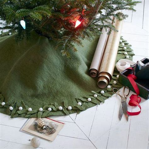 felt mistletoe tree skirt west elm