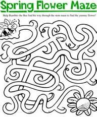 printable spring maze 95 best images about maze on pinterest