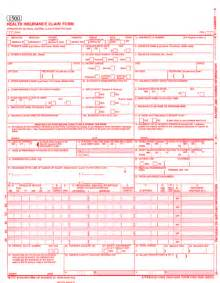 fillable cms 1500 template sle cms 1500 claim form pdf pictures to pin on