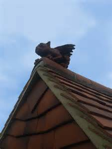 Fleur De Lis Bedding Gargoyle On The Roof
