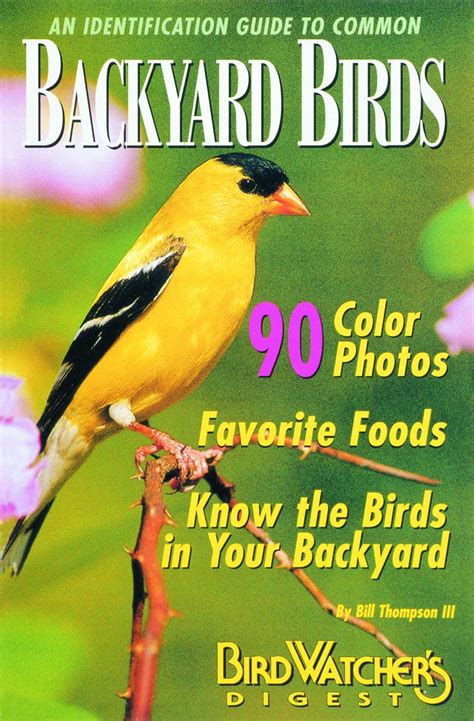 backyard bird identification bird watcher s digest an identification guide to common backyard birds