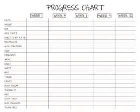 Progress Charts Templates by No More Excuses 12 Week Challenge No Excuse