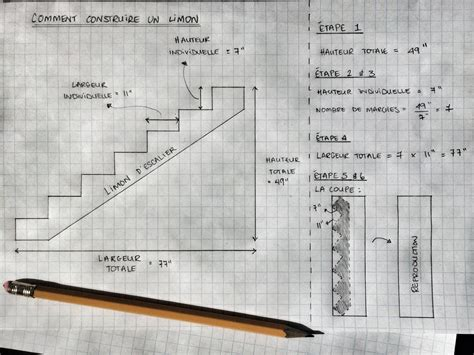 Comment Construire Un Escalier En B Ton 3795 by Tracage Escalier Great Escalier En Bois En B Ton En