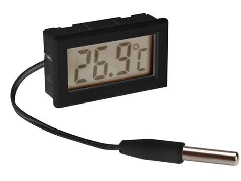 Termometer Oven Digital pmtemp2 digital thermometer for panel mounting velleman