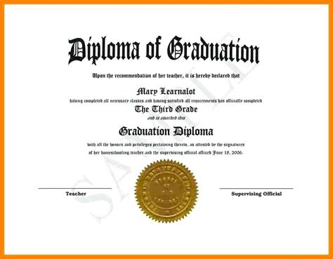 9 High School Diploma Template Word Pear Tree Digital High School Diploma Template With Seal