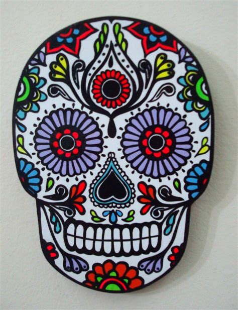 calaveras mexicanas artecolor objetos calavera mexicana en madera pintada a