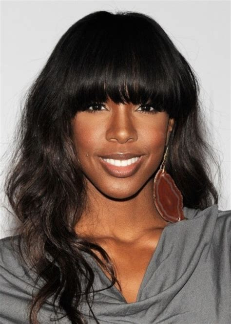 Black Hairstyles With Bangs With Weave by Wavy Weave Hairstyles With Side Bangs Picturesgratisylegal