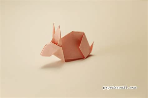 How To Make A Origami Bunny - pin 10 origami rabbits rabbit food on