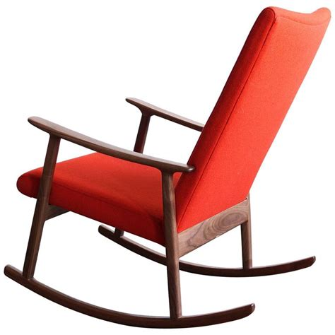 black upholstered rocking chair rc01 upholstered rocking chair in black walnut by jason