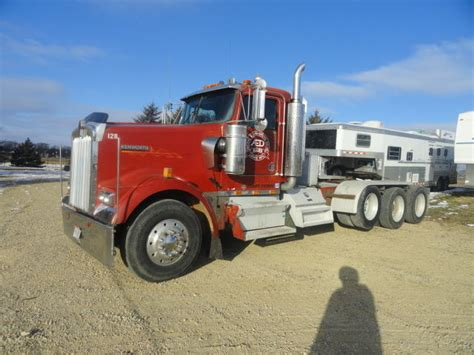 kenworth heavy haul for sale 1998 kenworth w900 tri axle semi tractor heavy haul day