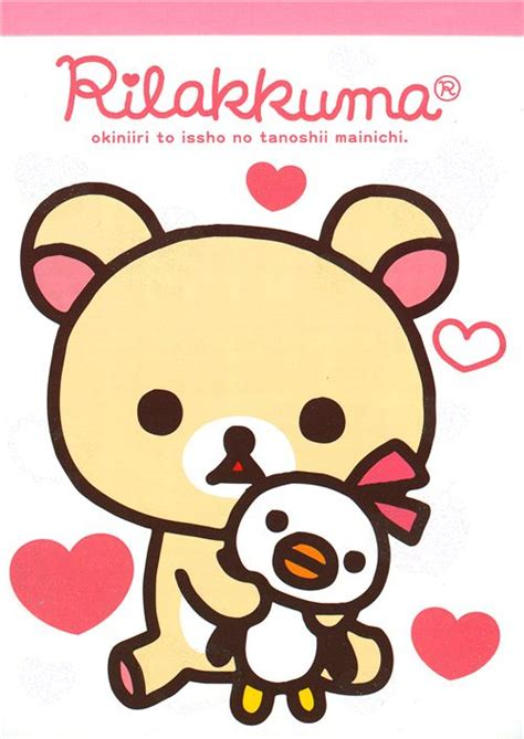 imagenes de oso kawaii rilakkuma memo pad bear korilakkuma with penguin heart