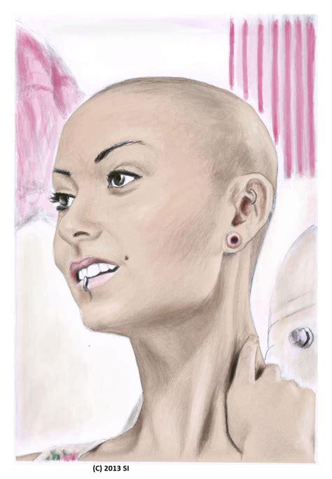 female headshave this month head shaving artwork by stefan von deutschland