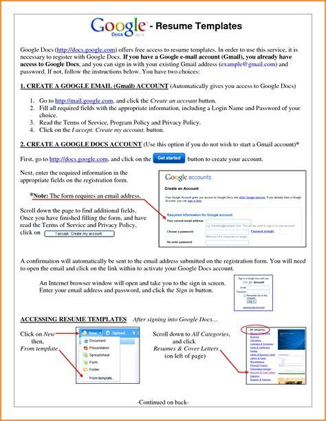 google doc templates resume doc resume templates student resume template
