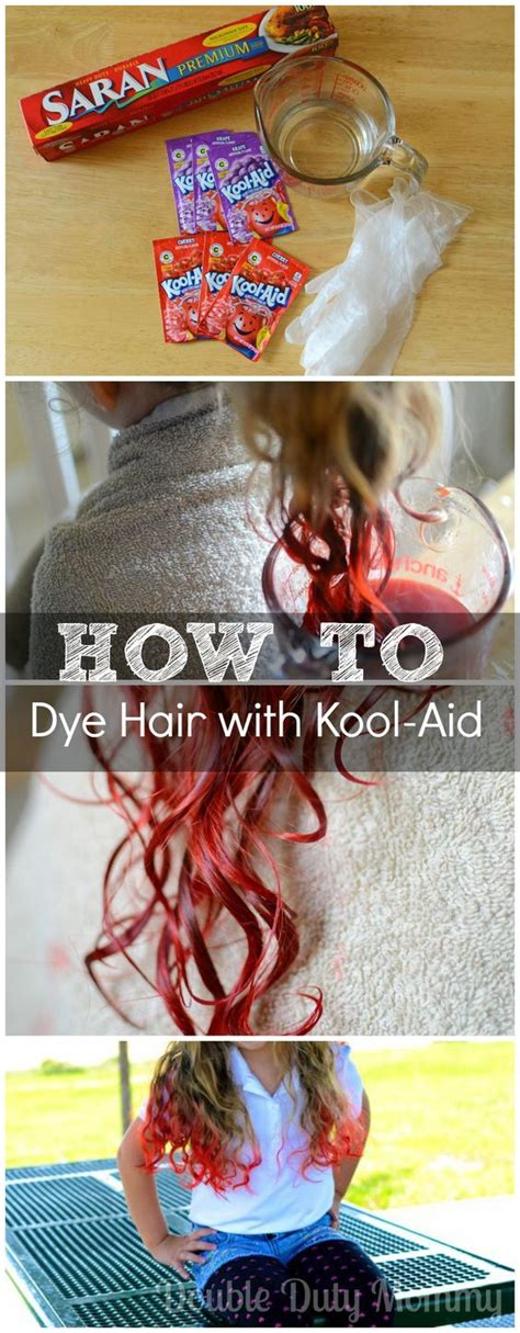 how to dye your hair with kool aid recipe