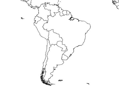political outline map of america south america blank map free images at clker