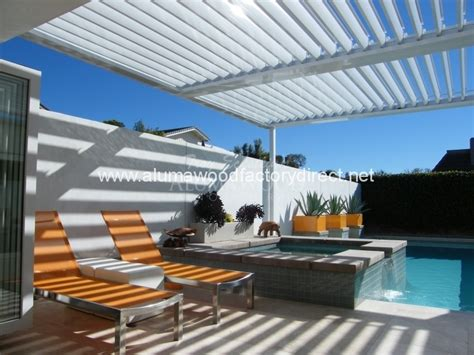 Louvered Patio Roof System by Equinox Louvered Roof System Patio Cover Alumawood