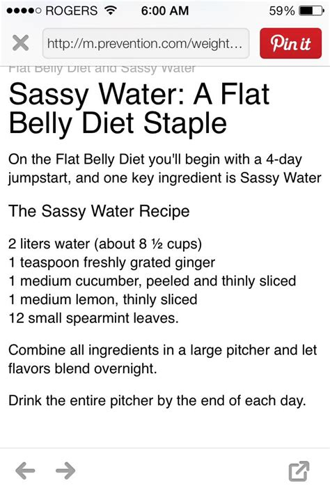 Flat Belly Diet 4 Day Detox Menu by Flat Tummy Diet Water Detox Connectionstoday