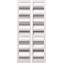 Louver Doors For Closets Shop Jeld Wen Louver Louver Pine Bi Fold Closet Interior Door Common 30 In X 80 In