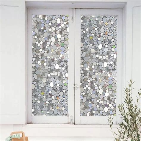 privacy sticker for bathroom window 45 100cm colorful pebbles glass window film window