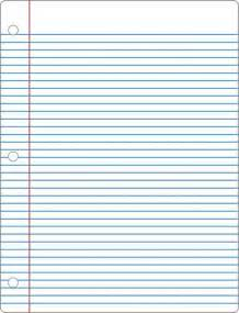 Size Of Writing Paper Lined Paper 6 Actual Size Image