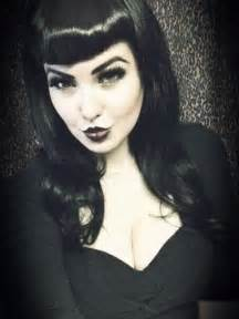 haircuts and hotrods dark look with bettie bangs rockabilly at heart