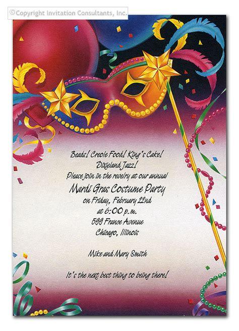 mardi gras land birthday invitations by invitation consultants cc ne8369 c4